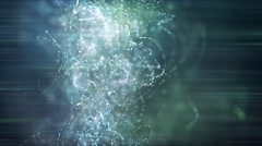 Wild & Fast Moving Orb Particle Strings - stock footage