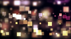Floating Square Bokeh Particles - stock footage