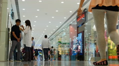 Time lapse shoppers in Hong Kong department store 4K Stock Footage