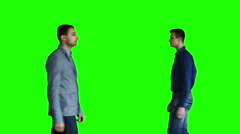 People pass in front of the camera Stock Footage
