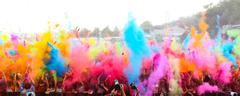 Stock Photo of Color Up Run