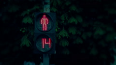 The traffic lights in evening. Red to green Stock Footage