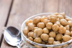 Preserved Chick Peas Stock Photos