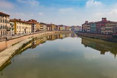 The Pisa city in Tuscany, Central Italy Stock Photos
