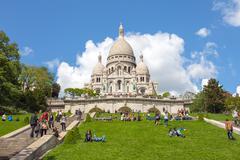 Sacre Coeur Catholic church in Paris, France Stock Photos
