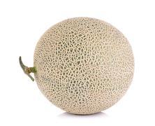 Melon fruit isolated on the white background Stock Photos