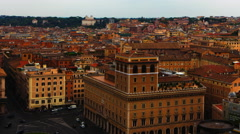 4K, UltraHD Timelapse aerial view over Rome, Italy Stock Footage
