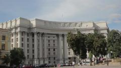 The Ministry of foreign Affairs. Kiev . Ukraine. - stock footage