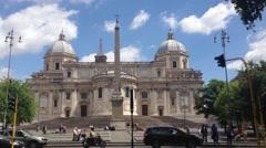 Basilica di Santa Maria Maggiore in Rome Stock Footage