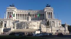 Altare della Patria in Rome Stock Footage