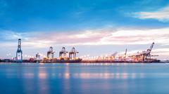 Port Newark-Elizabeth marine terminal - stock photo