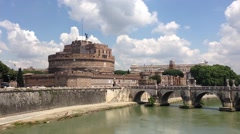 Castel Sant'Angelo in Rome Stock Footage