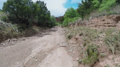Dry Creek Bed- Caprock Canyon State Park- Quitaque, TX Stock Footage