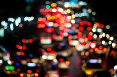 Stock Photo of Abstract traffic lighting, Blurred
