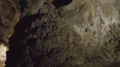 Large Mineral Deposit Mound- Carlsbad Caverns National Park Stock Footage