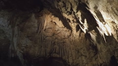 Mineral Drip Formations- Carlsbad Caverns National Park - stock footage