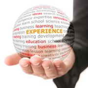 Concept of experience in business - stock photo