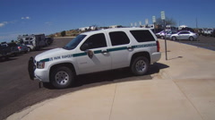 U.S. Park Ranger Squad Car- Carlsbad Caverns New Mexico Stock Footage