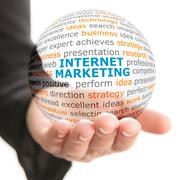 Concept of Internet marketing in business - stock photo