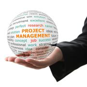 Concept of Project management in business Stock Photos