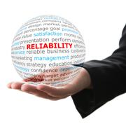 Concept of reliability in business Stock Photos