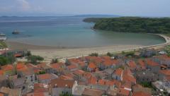 Aerial - Famous travel destination in Croatia, island Susak Stock Footage