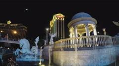 Caesars Palace Fountains & Sculpture- Las Vegas NV Stock Footage