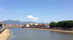 Arno River In Pisa Stock Footage