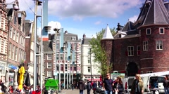 ULTRA HD 4K real time shot,The Waag in Amsterdam Stock Footage