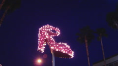 Giant Spinning High-heel Shoe Made Of Blinking Lights- Las Vegas NV Stock Footage