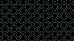 Pattern moving from dot to cycle in colors Stock Footage