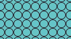 Retro circle pattern on solid background. Stock Footage