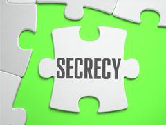 Secrecy - Jigsaw Puzzle with Missing Pieces Stock Illustration