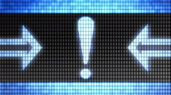 Attention icon on the screen. Looping. Stock Footage