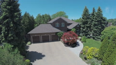 Aerial Shot Luxury Home Stock Footage