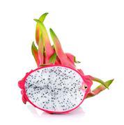 Dragonfruit isolated on the white background Stock Photos