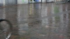 Summer rain on the streets of Ghent  Stock Footage