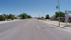 Driving In Small Town In Rural Eastern New Mexico- Tatum NM Stock Footage