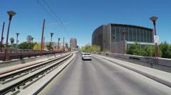 Driving Past Phoenix Arizona Public Library Main Branch - stock footage
