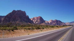 POV Motorcycle Rider On Nevada Highway 159- Red Rock Canyon Stock Footage
