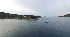 Drone scene of a peninsula of the Dalmatian coast. Stock Footage