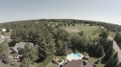 Aerial Shot Luxury Home - stock footage