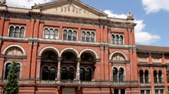 View from the courtyard of Victoria and Albert Museum (1852) Stock Footage
