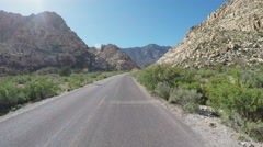 POV Motorcyclist In Red Rock Canyon Near Las Vegas NV Stock Footage