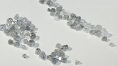 Laboratory-created, lab-grown, or man-made diamonds Stock Footage