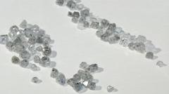 Laboratory-created, lab-grown, or man-made diamonds - stock footage