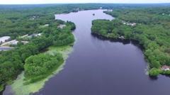 Big Lake Arial Shot  4K - stock footage