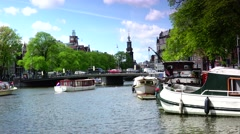 ULTRA HD 4K real time shot,Historical street in Amsterdam Stock Footage