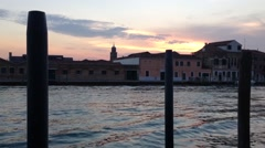 Sunset in Murano Venice Italy Stock Footage