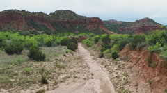 Hiking Trail At Caprock Canyon State Park- Quitaque TX Stock Footage